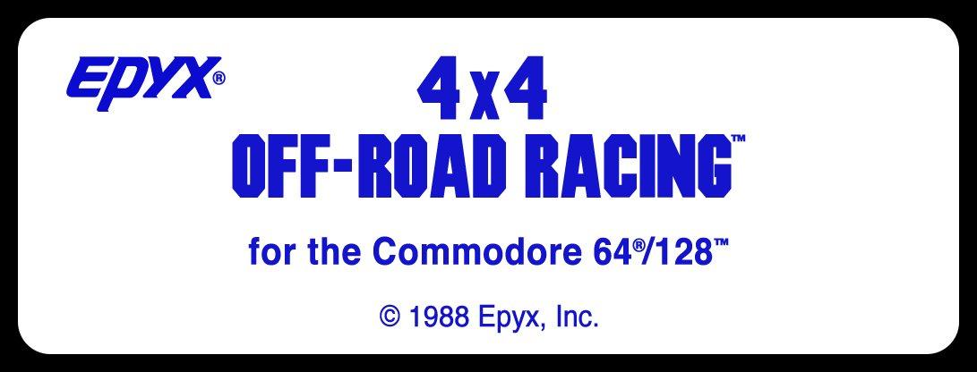 c64 disk label - 4x4OffRoadRacing